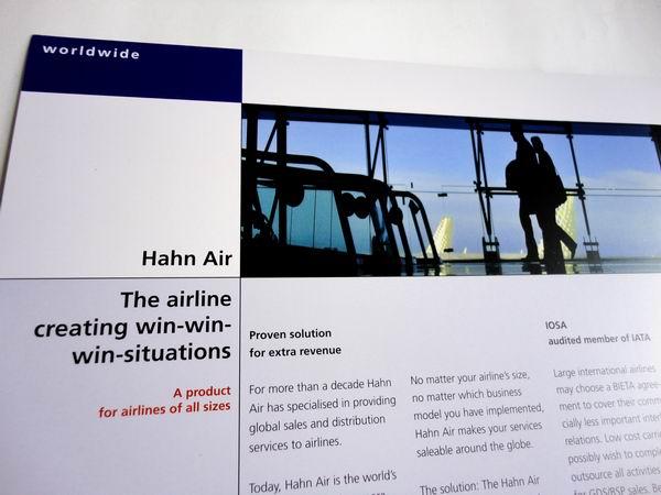 // Hahn Air / Image-Broschüre