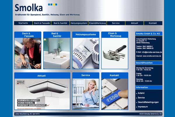 // Smolka: Internetseite für Handwerker